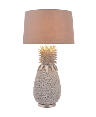 Large White Pineapple Ceramic Lamp