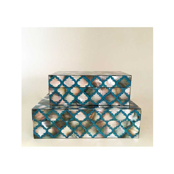 Turquoise & Mother of Pearl Boxes