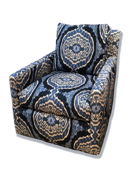 Nicole Slipcovered Swivel Chair