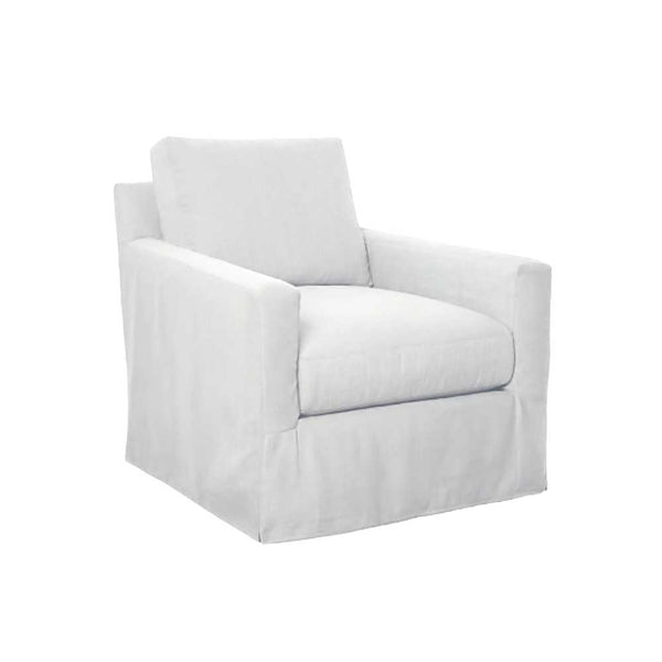 Kapas Slipcovered Swivel Chair
