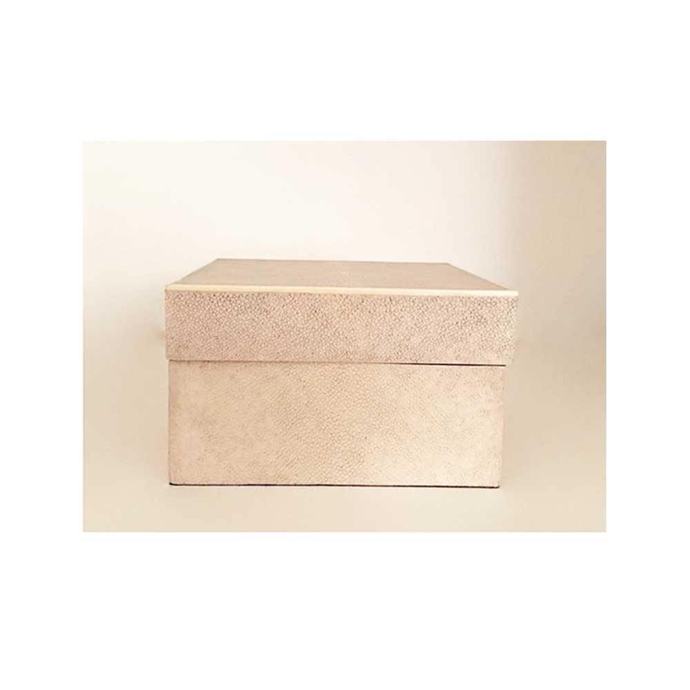 Natural Shagreen Box w/ Lid