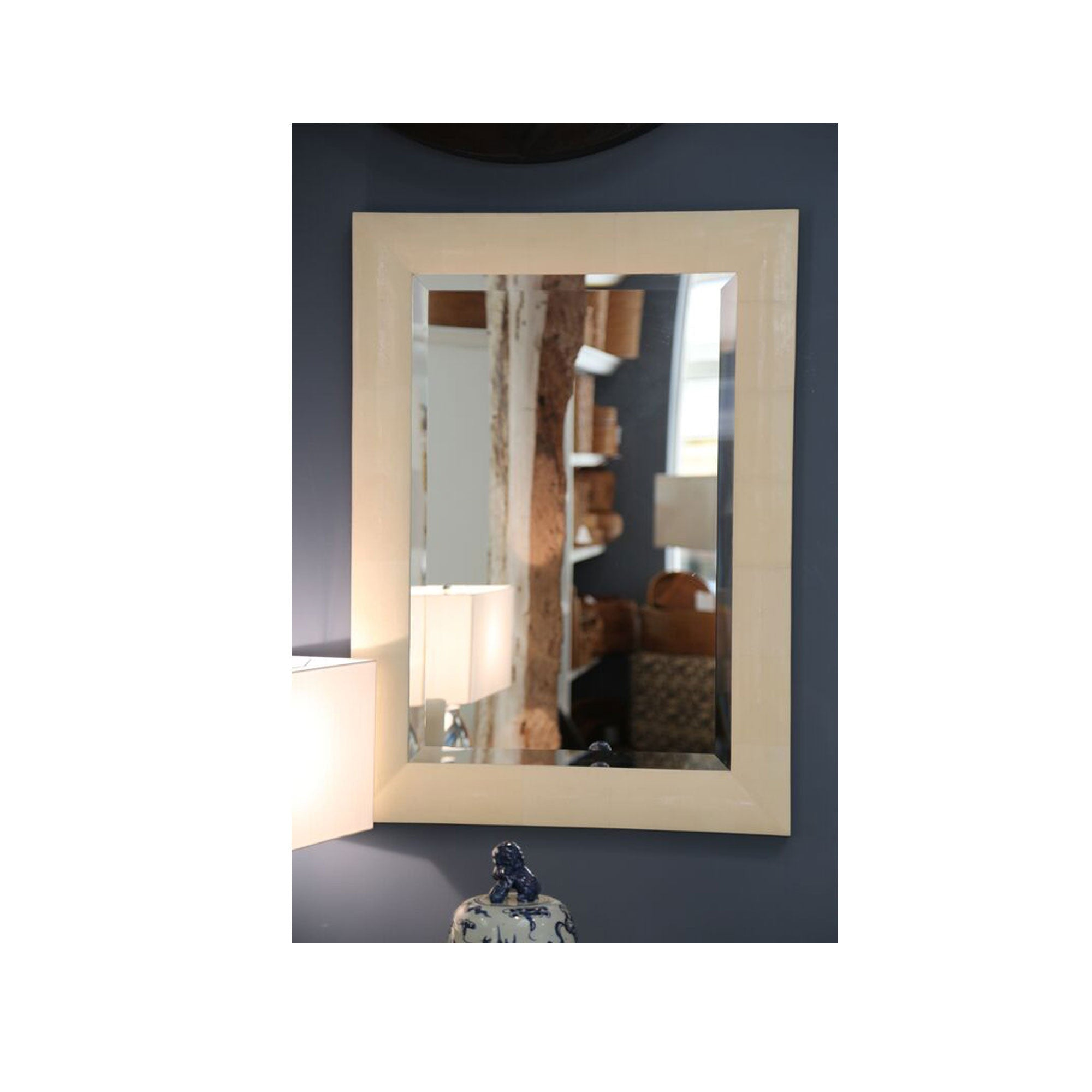 Natural Shagreen Rectangle Mirrors