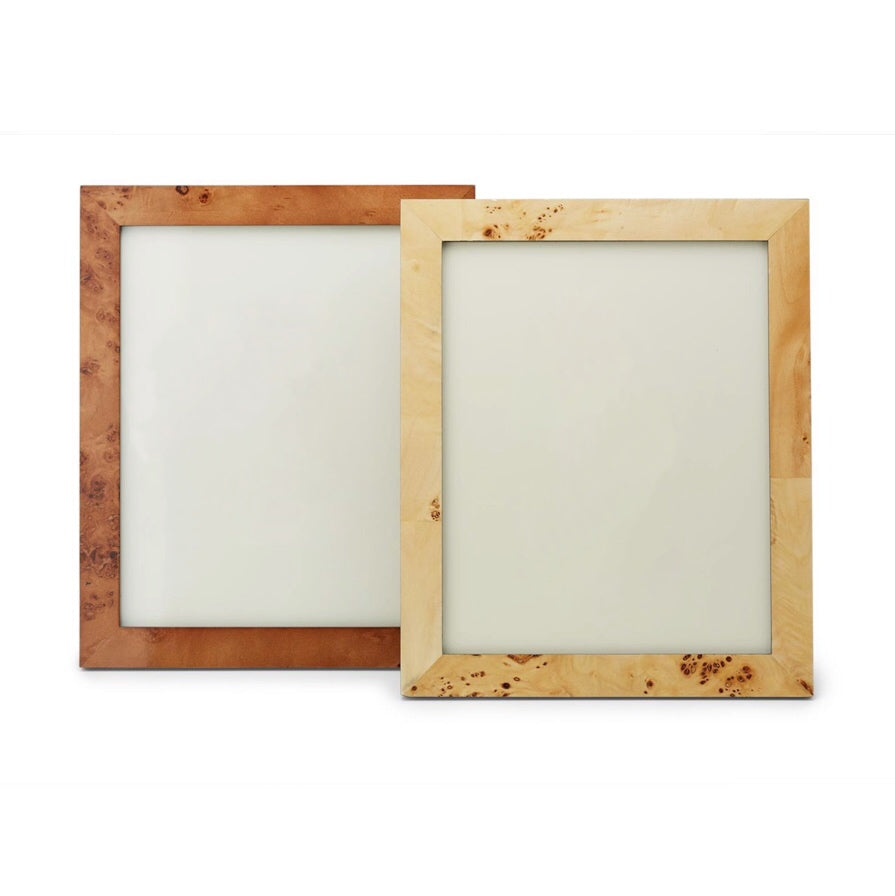 Burled Wood Picture Frame Collection