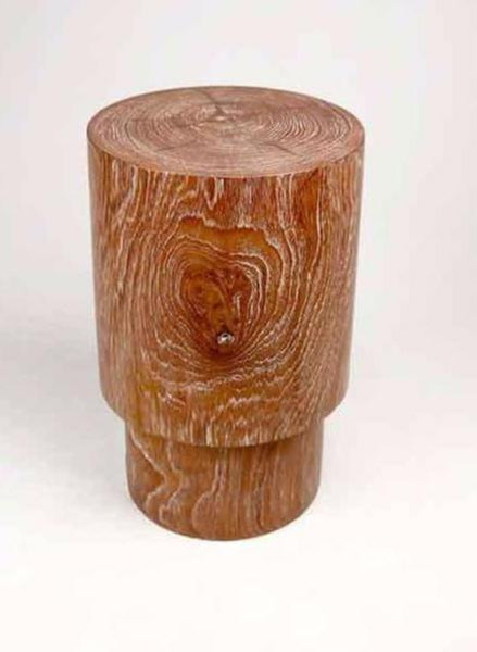 Cerused Teak Stool
