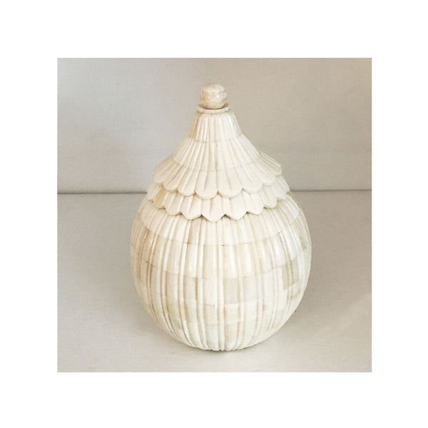 Scalloped Bone Jar