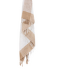 Beige Hand Loomed Throw Blanket