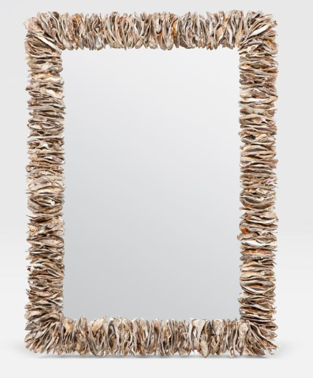 Natural Oyster Shell Mirror