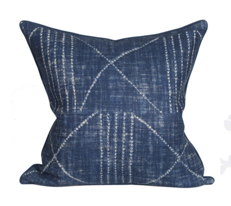 Indigo Ikat Lania Pillow