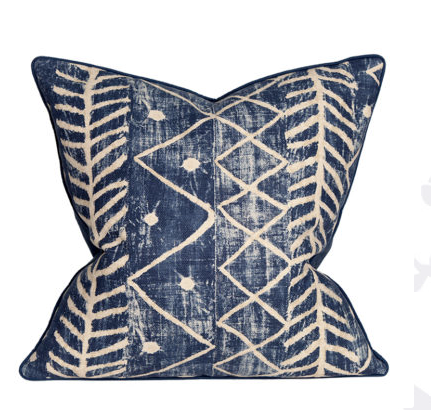 Indigo Ikat Tribal Pillow