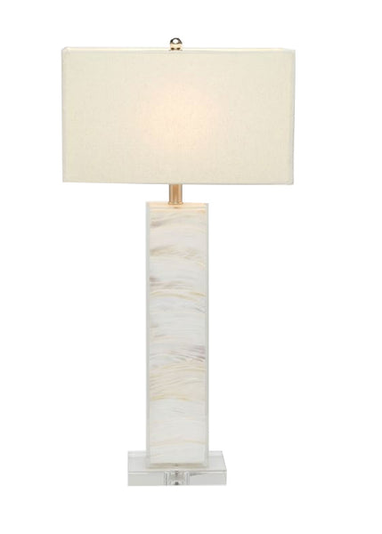 Layered Mother of Pearl Lamp