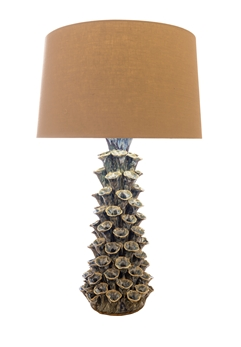 Blue Sea Barnacle Ceramic Lamp