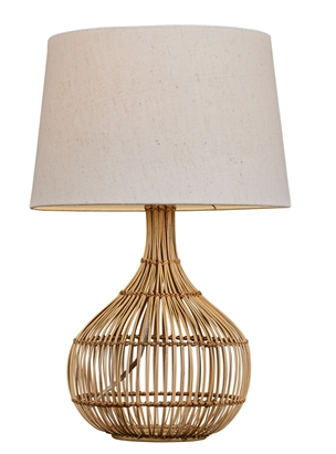 Round Rattan Table Lamp
