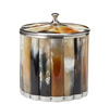 Natural Dark Horn Ice Bucket w/ Lid
