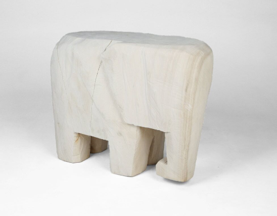 Hand Carved Elephant Side Table