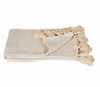 Natural Tassel Throw Blanket