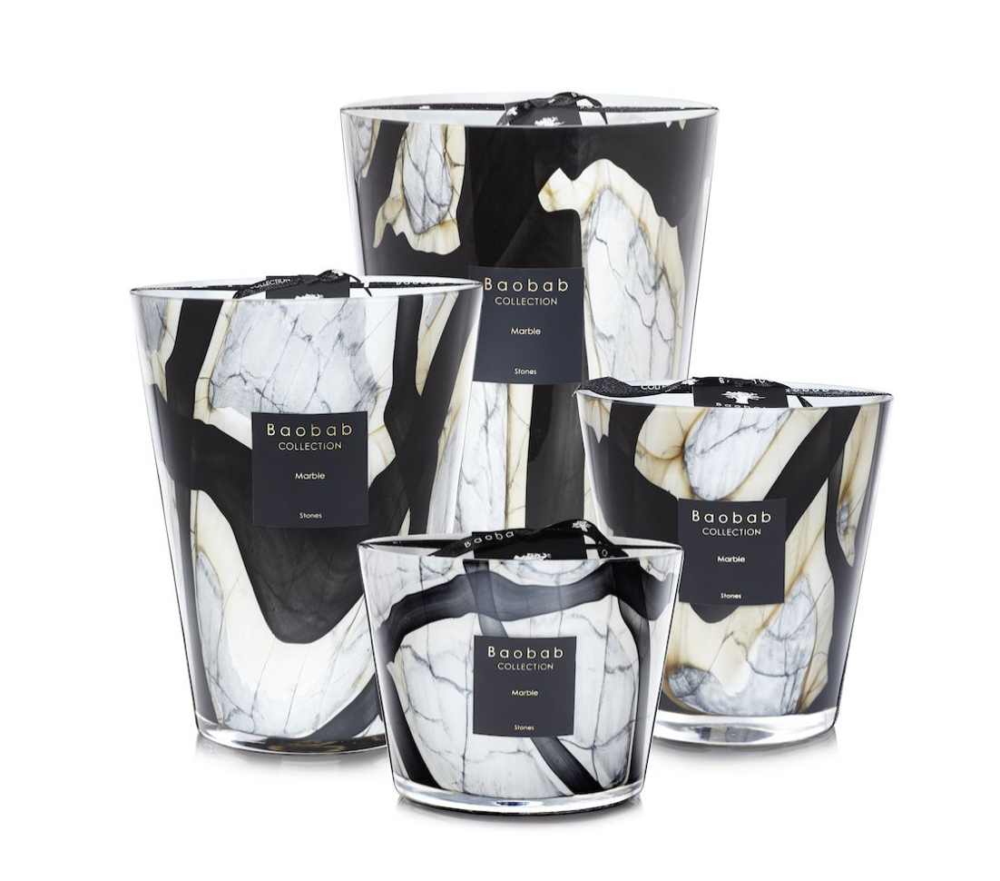 Baobab Candle Collection - Stones Marble