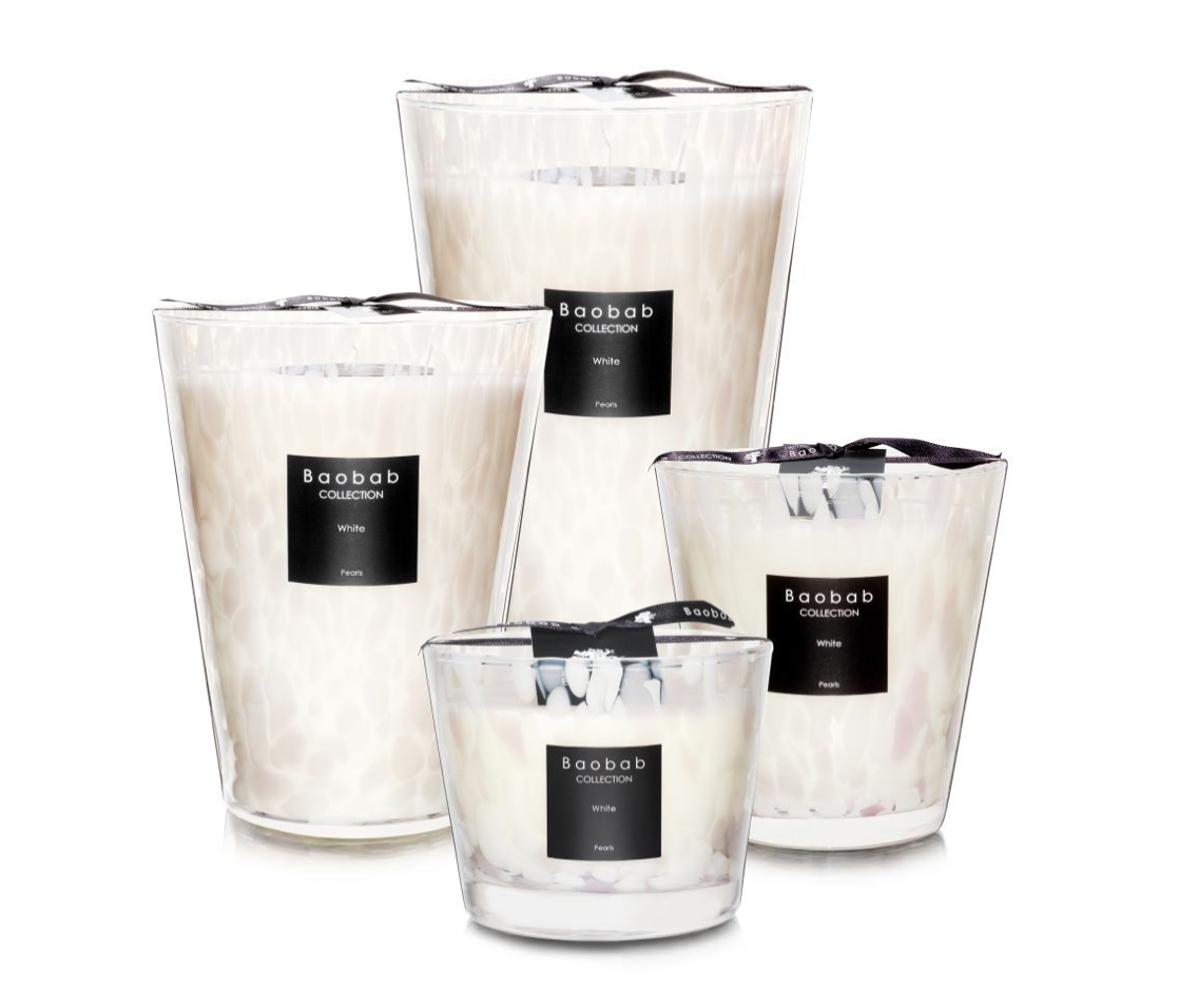 Baobab Candle Collection - White Pearls