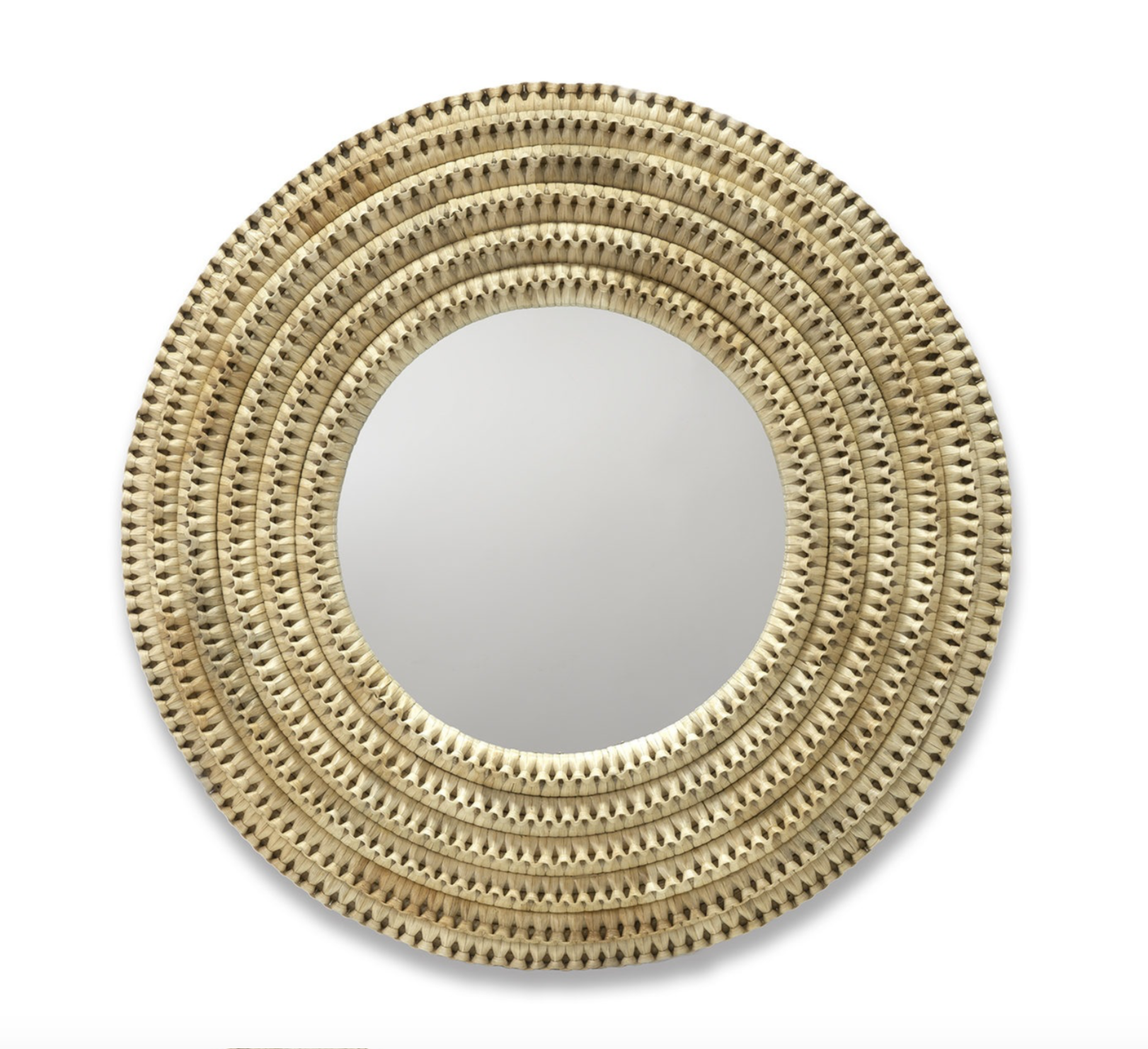 Braided Rattan Mirror