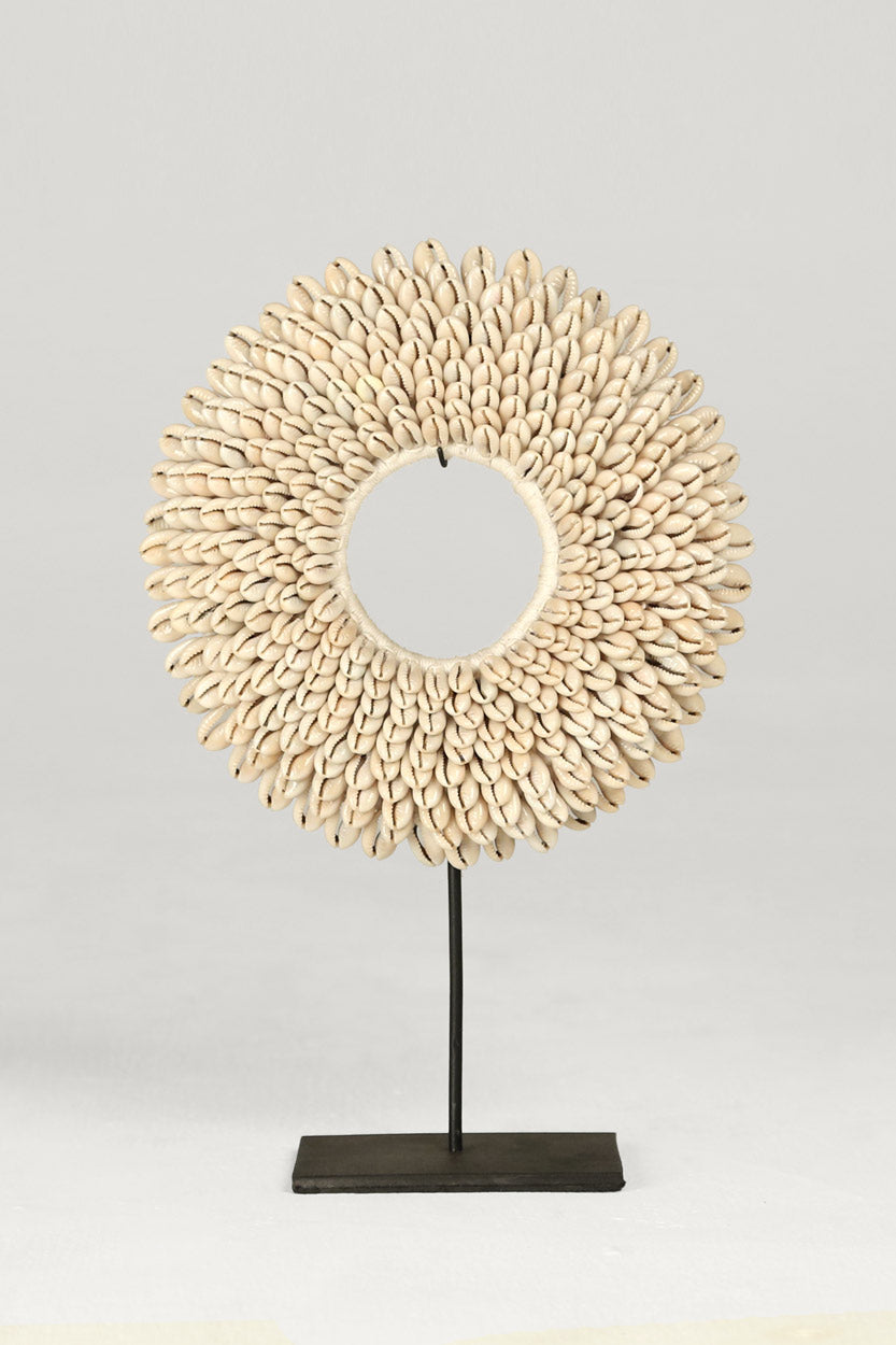 Round Cowry Shell Sculpture