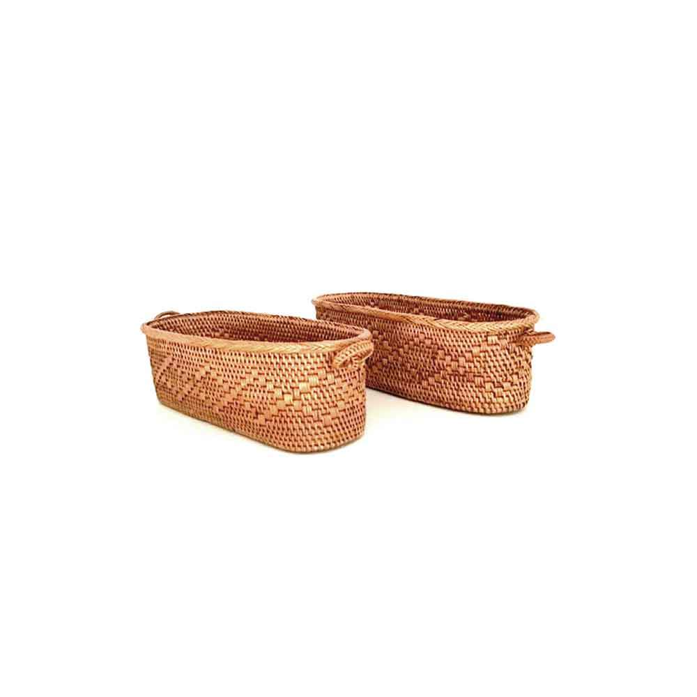 Small Oval Baskets w/ Handles