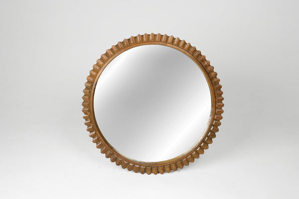 Carved Round Temple Mirror - Variation I