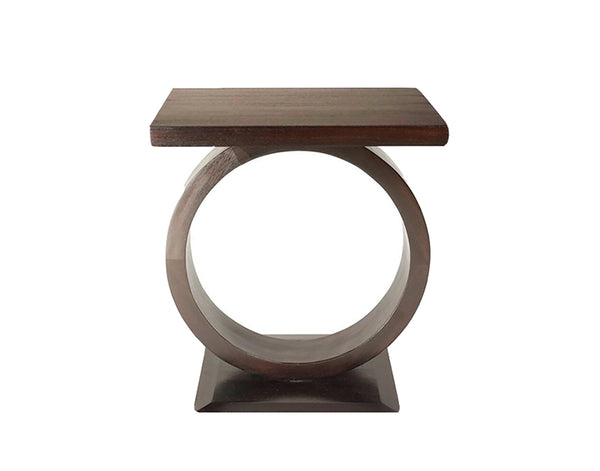 """O"" Mahogany Drink Table"