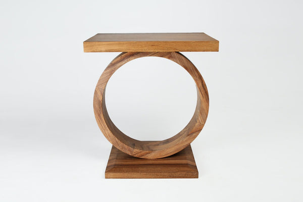 """O"" Drink Table- Natural"