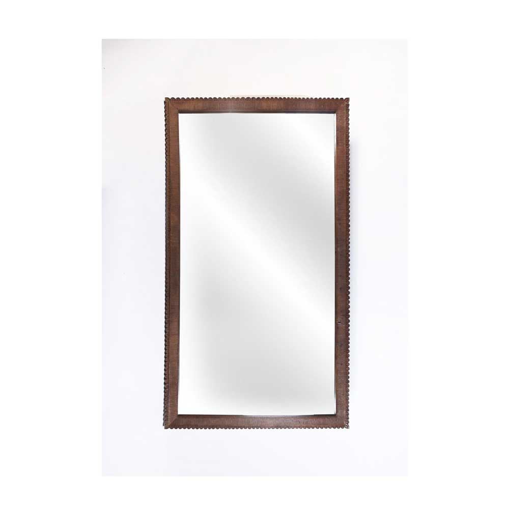 Kadek Carved Teak Floor Mirror - Extra Tall