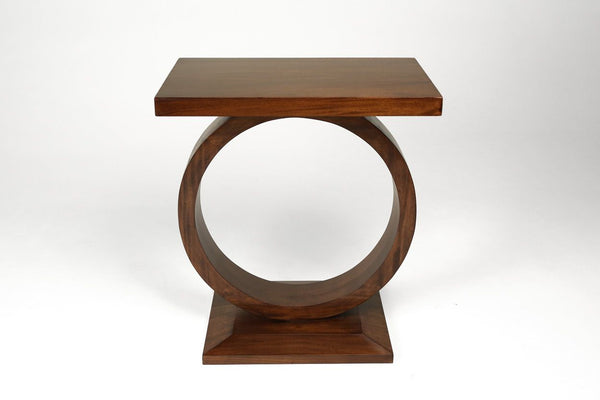 """O"" Drink Table- Mahogany Reddish Brown"