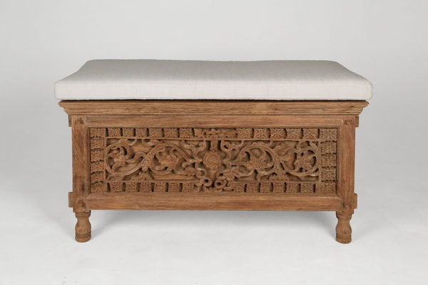 Small Carved Jodang Bench