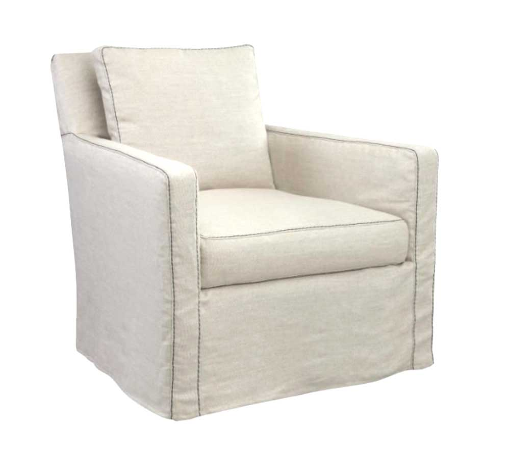 Ria Swivel Slipcovered Chair