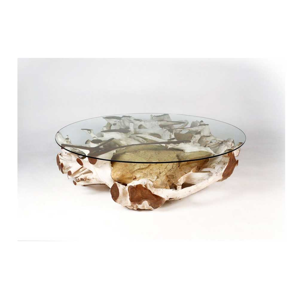Round Natural Teak Root Coffee Tables