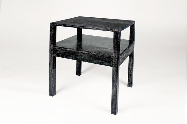 Minimalist Bedside Table - Black Cerused