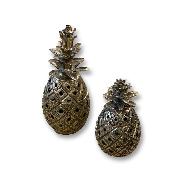 Bronze Pineapple Candle Holder