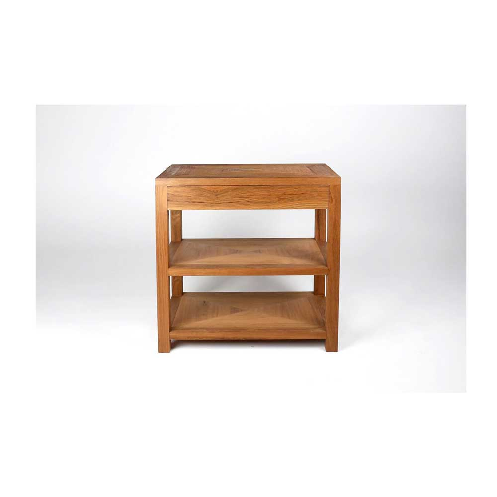 Natural Teak Bedside Table