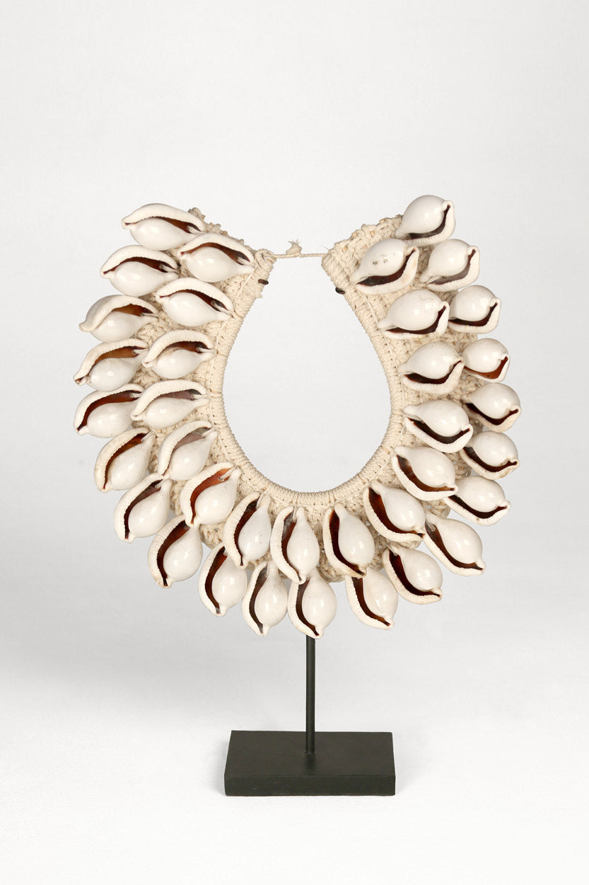 Papua Giant Cowry Shell Necklace Sculpture