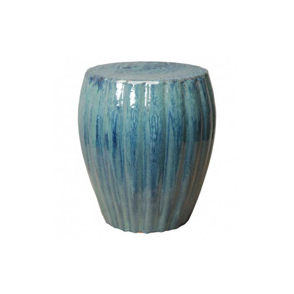 Aqua Lotus Ceramic Stool/ Side Table