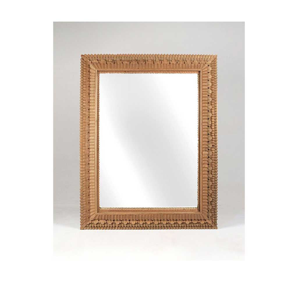 Carved Temple Mirror Rectangle