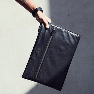 Black Leather Computer Sleeve