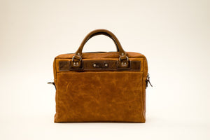 Briefcase, Man Bag, Computer Bag - The Cafe Racer - Brown
