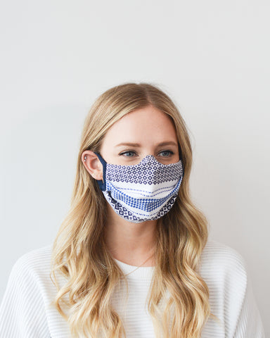 Cotton Face Mask with Loops