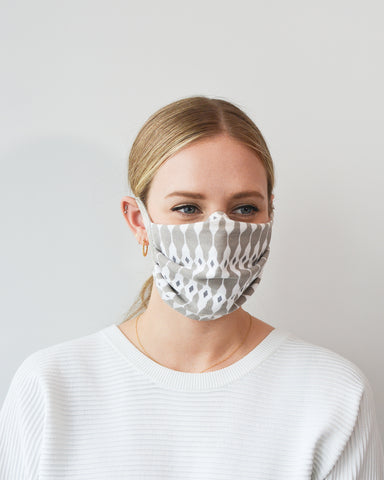Cotton Face Mask with Ties