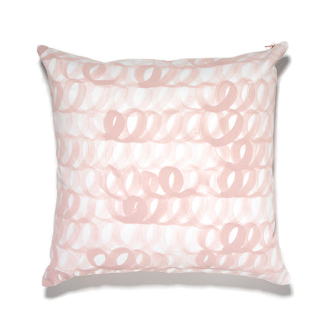 Hand Painted Loop Pillow Blush