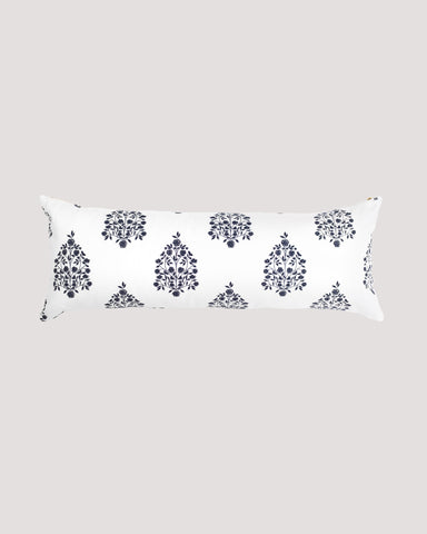 Bloom Pillow Lumbar Vintage Indigo