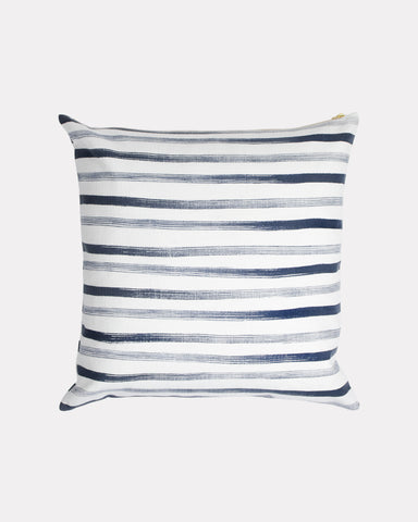 Hand Painted Stripe Pillow Navy