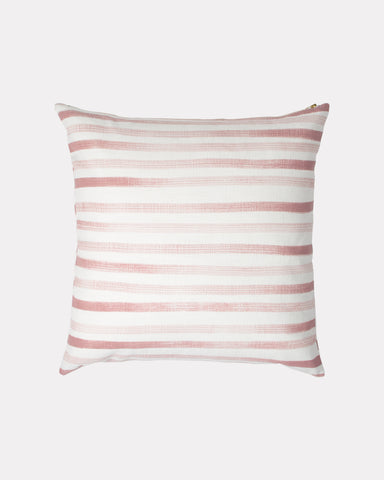 Hand Painted Stripe Pillow Rose