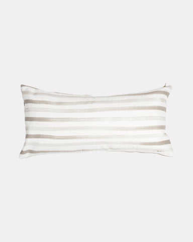 Hand Painted Stripe Lumbar Pillow Sand