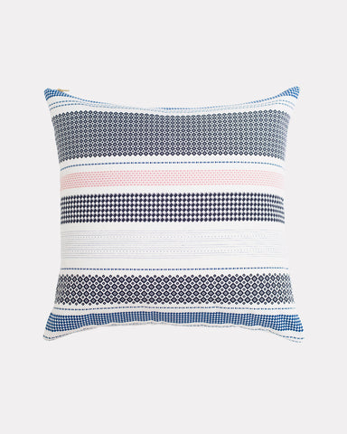 Misfit Stripe Pillow Azure