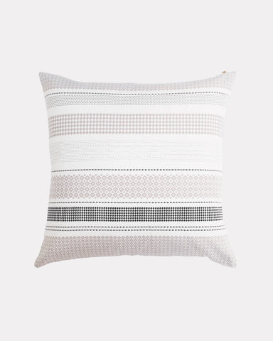 Misfit Stripe Pillow Taupe Grey