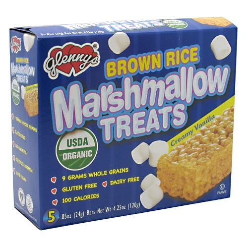 Glennys Brown Rice Marshmallow Treats - Creamy Vanilla - 5 Bars - 027393014209